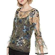 Buy Mint Velvet Embroidered Lace Top, Multi Online at johnlewis.com