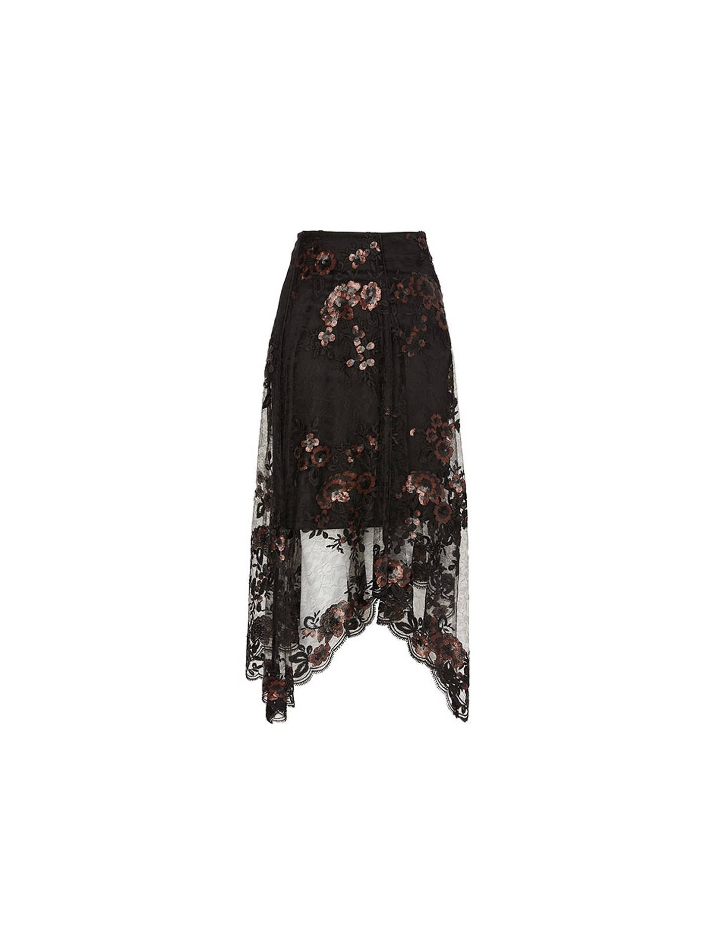 BuyCoast Ruth Lace Embroidered Skirt, Black, 6 Online at johnlewis.com