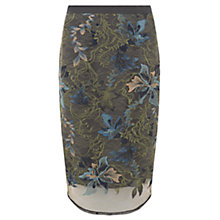 Buy Mint Velvet Embroidered Lace Skirt, Granite Online at johnlewis.com