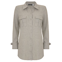 Buy Mint Velvet Tie Cuff Shirt, Oatmeal Online at johnlewis.com