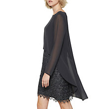 Buy Mint Velvet Lace Cape Layer Dress, Dark Grey Online at johnlewis.com