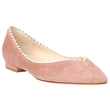 Buy L.K. Bennett Florence V Cut Bead Trim Pumps, Dark Pink Suede Online at johnlewis.com