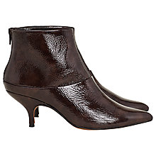 Buy Finery Patty Kitten Heel Ankle Boots, Mahogony Online at johnlewis.com