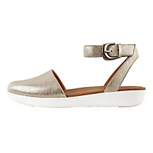 Buy FitFlop Cova Closed Toe Sandals, Silver Leather Online at johnlewis.com