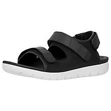 Buy FitFlop Neoflex Double Strap Sandals, Black Online at johnlewis.com
