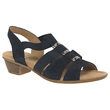 Buy Gabor Joan Wide Fit Block Heeled Sandals Online at johnlewis.com