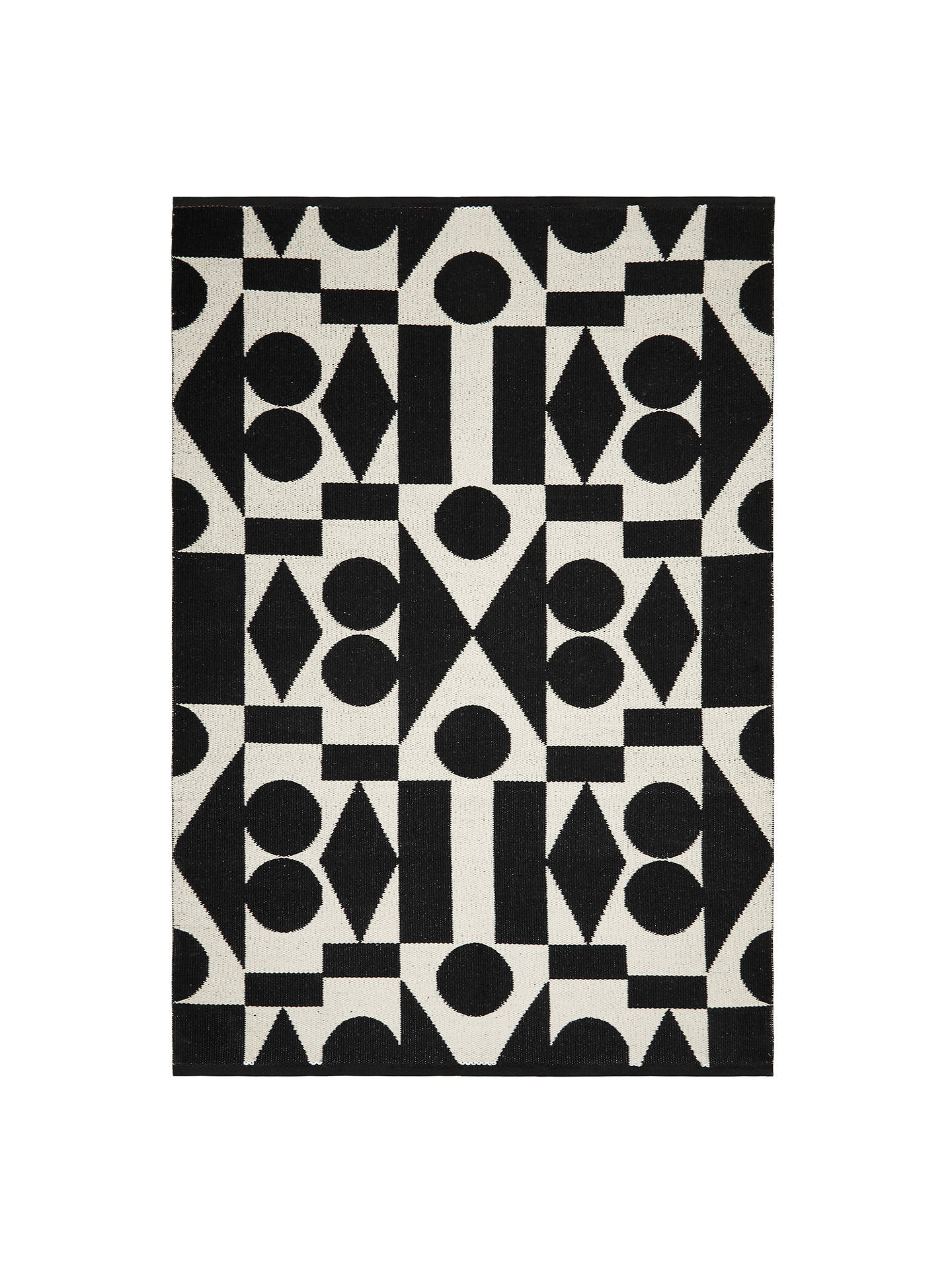 BuyPATTERNITY + John Lewis Ritual Reflect Rug, Black/White, L240 x W170cm Online at johnlewis.com