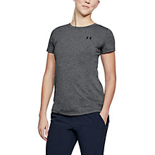 Buy Under Armour Threadborne Short Sleeve Training Top, Black Online at johnlewis.com