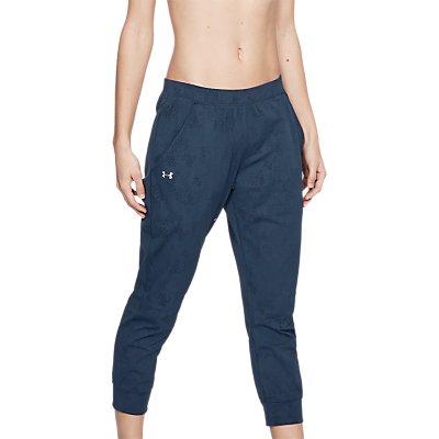 Under Armour Balance Mesh Loose Crop Trousers, Academy/Formation Blue