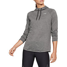 Buy Under Armour Tech Long Sleeve Training Hoodie, Charcoal Light Heather Online at johnlewis.com