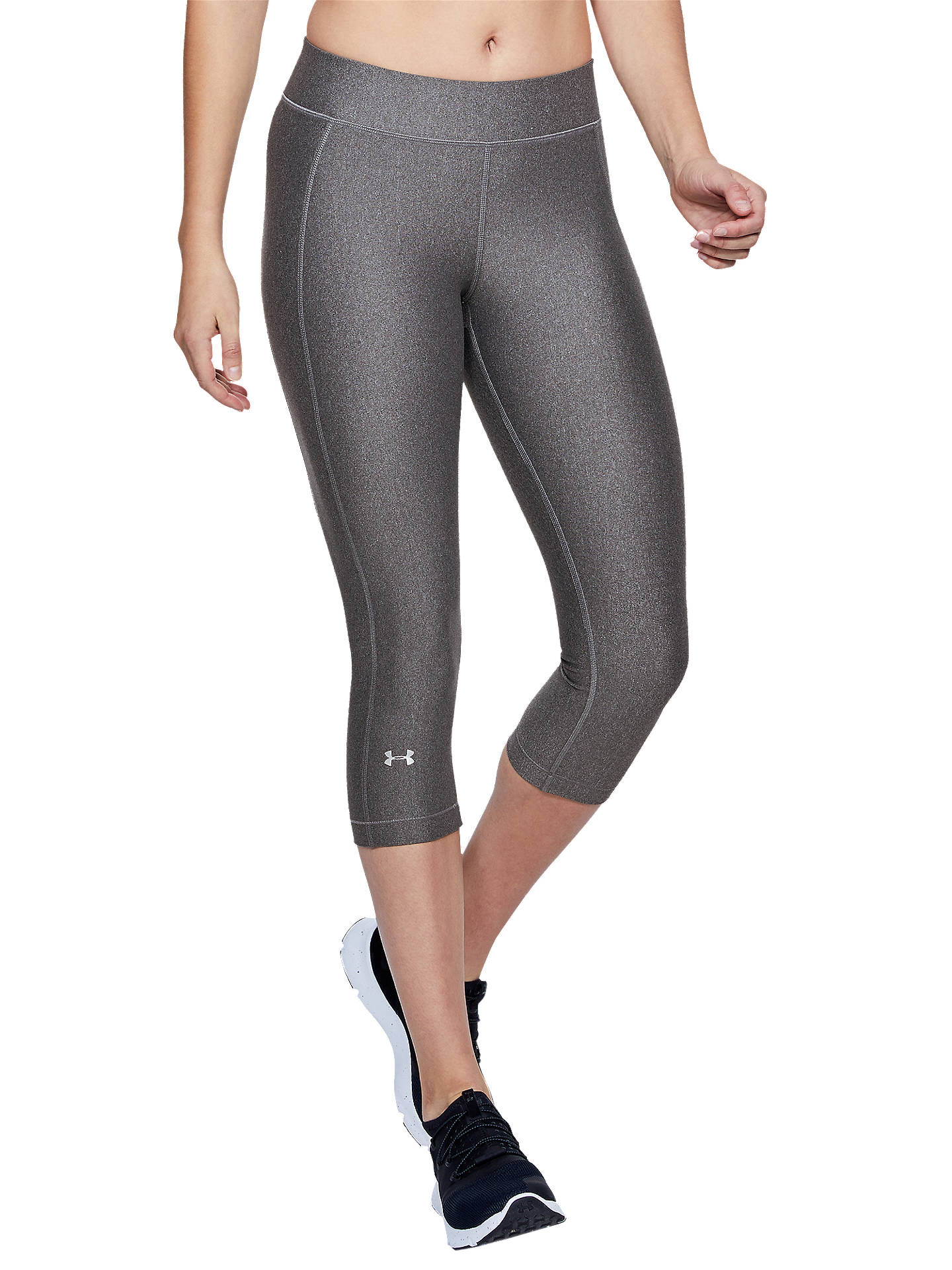 finest selection f41a0 d6b55 Buy Under Armour HeatGear Training Capris, Charcoal Light Heather, XS  Online at johnlewis.