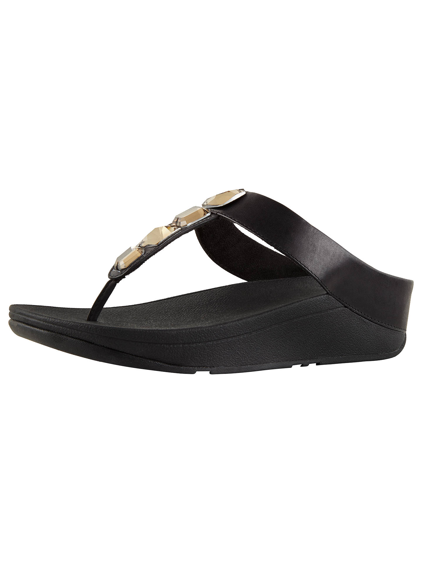 39605c04f1fe FitFlop Roka Embellished Toe Post Sandals at John Lewis   Partners