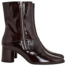 Buy Finery Stephanie Block Heeled Ankle Boots, Mahogany Leather Online at johnlewis.com
