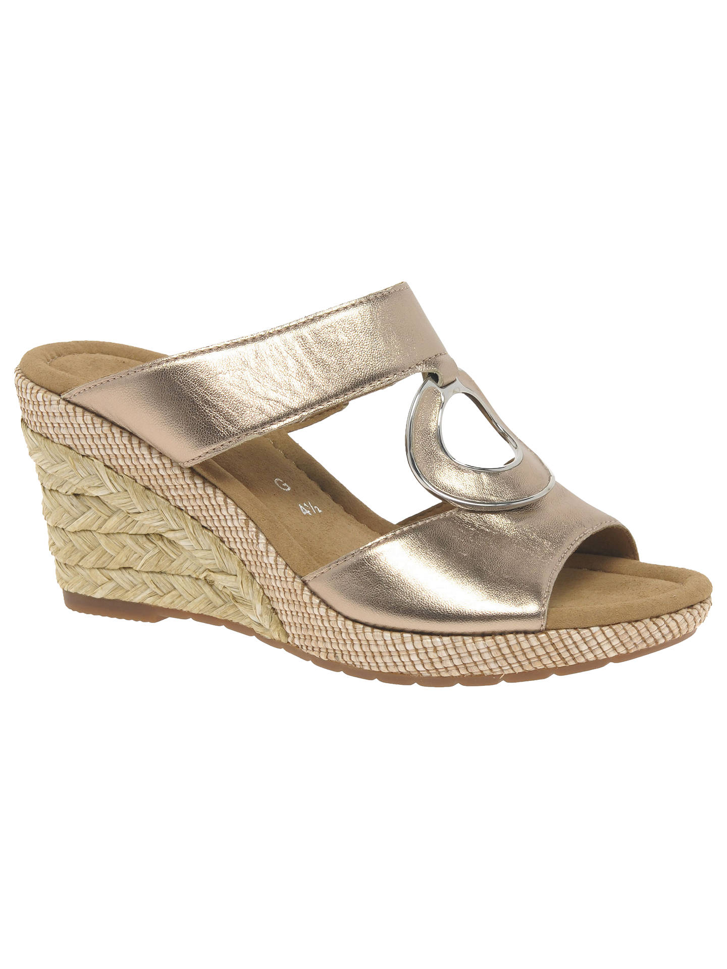 7fb66a7b3fbf Buy Gabor Sizzle Wide Fit Wedge Heeled Sandals