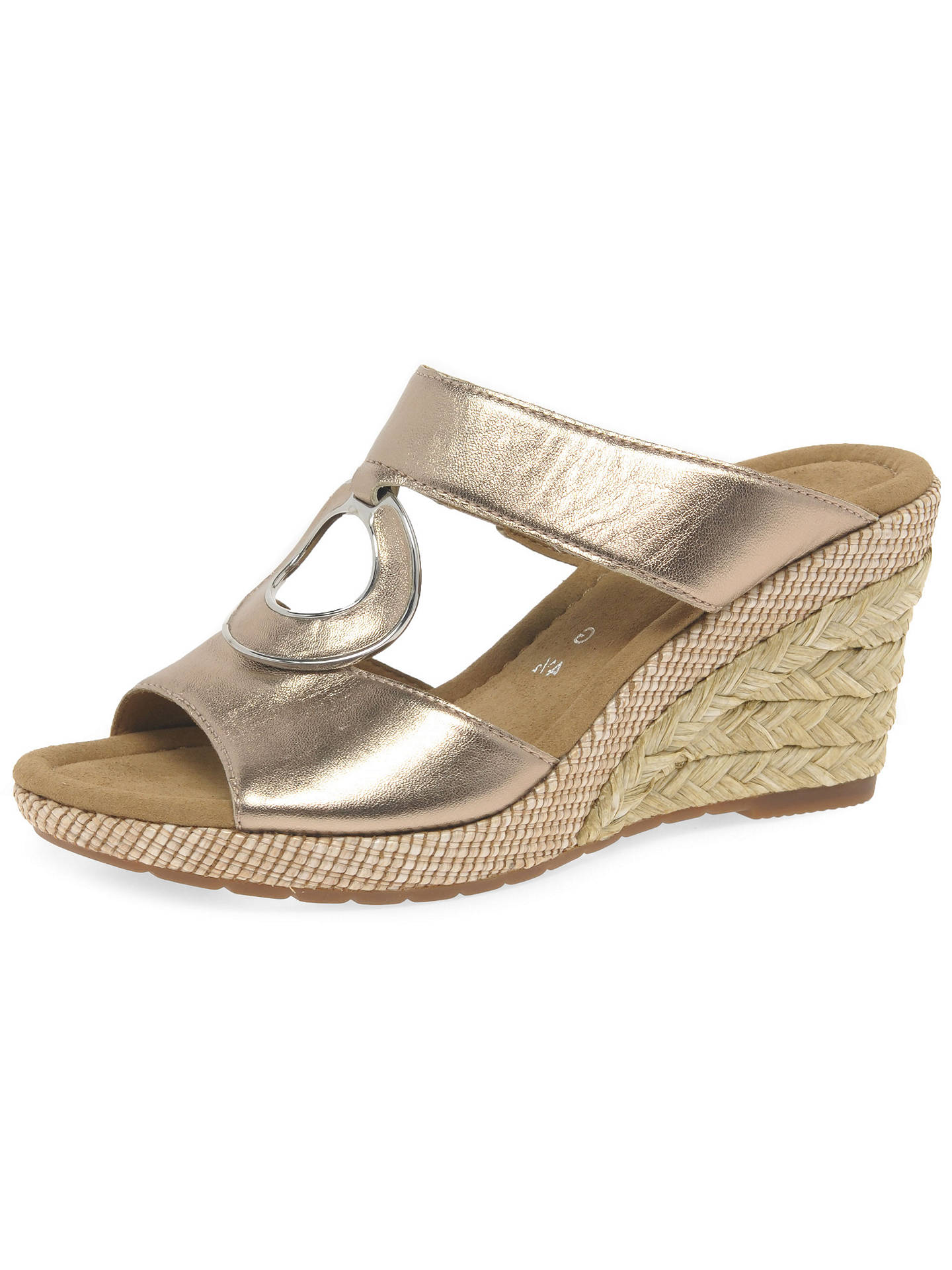 9395021452a1 ... Buy Gabor Sizzle Wide Fit Wedge Heeled Sandals