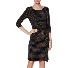 Buy Gina Bacconi Sandie Spot Jersey Dress, Black/Beige Online at johnlewis.com