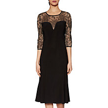 Buy Gina Bacconi Loretta Sweetheart Dress, Black Online at johnlewis.com