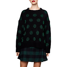 Buy Compañía Fantástica Spotted Jumper, Black/Green Online at johnlewis.com