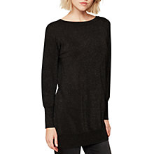 Buy Mint Velvet Metallic Tunic Jumper, Black Online at johnlewis.com
