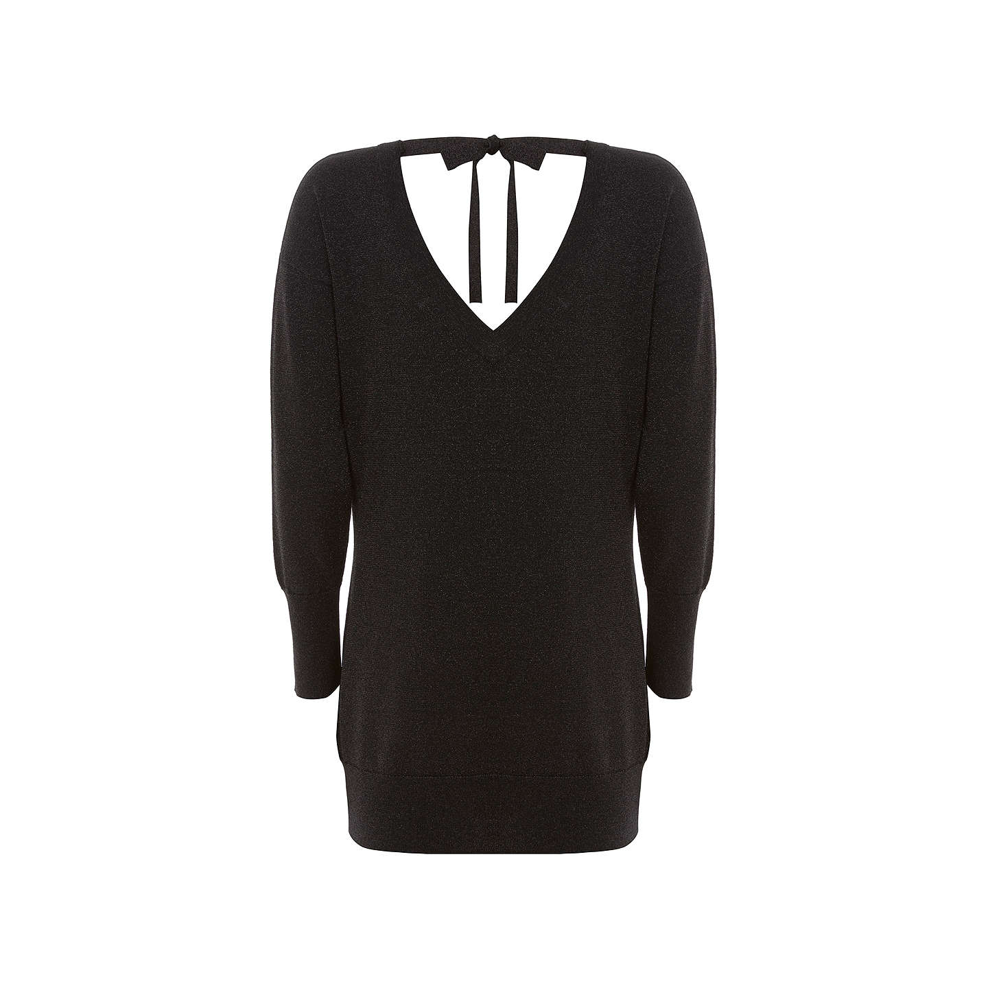 BuyMint Velvet Metallic Tunic Jumper, Black, 6 Online at johnlewis.com