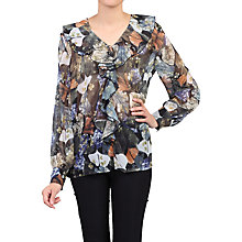 Buy Jolie Moi Floral Frilly V-Neck Blouse Online at johnlewis.com