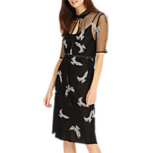 Buy Phase Eight Mira Embroidered Dress, Black/Silver Online at johnlewis.com
