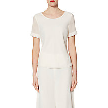 Buy Gina Bacconi Layered Chiffon Top, Chalk Light Online at johnlewis.com