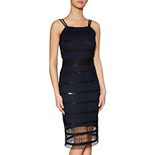 Buy Gina Bacconi Shannon Sequin Guipure Dress, Black/Navy Online at johnlewis.com