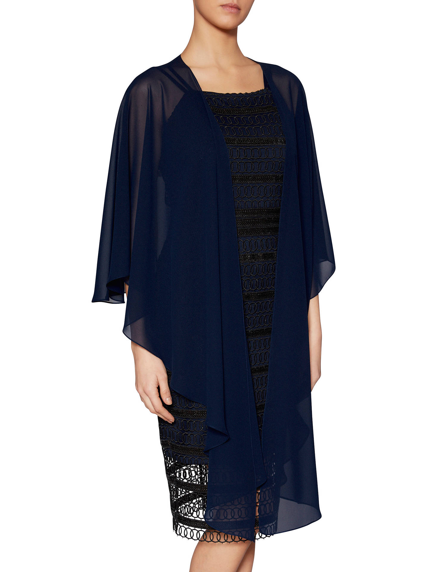 BuyGina Bacconi Shannon Sequin Guipure Dress, Black/Navy, 8 Online at johnlewis.com
