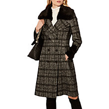 Buy Karen Millen Wool Check Coat, Black/Multi Online at johnlewis.com