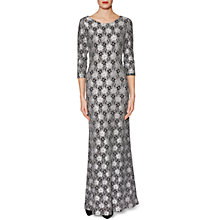 Buy Gina Bacconi Linda Floral Motif Lace Maxi Dress, Black/White Online at johnlewis.com