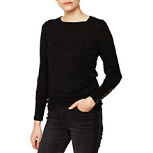 Buy Mint Velvet Metallic Fleck Crew Neck Jumper, Black Online at johnlewis.com