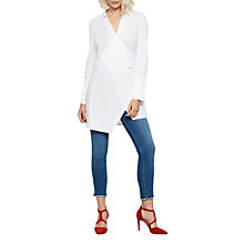Buy Mint Velvet Wrap Shirt Tunic, Ivory Online at johnlewis.com