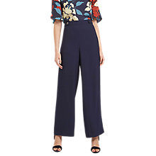 Buy Jaeger Cropped Palazzo Trousers, Navy Online at johnlewis.com
