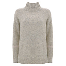 Buy Mint Velvet Stripe Cuff Boxy Jumper, Oatmeal Online at johnlewis.com