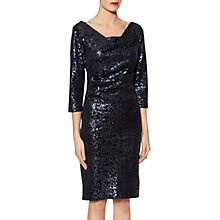 Buy Gina Bacconi Elizabeth Sequin Embellished Dress, Night Online at johnlewis.com