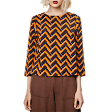 Buy Compañía Fantástica 3/4 Sleeve A-Line Top, Mustard/Multi Online at johnlewis.com