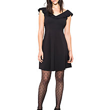 Buy Wild Pony Capped Sleeve Mini Dress, Black Online at johnlewis.com