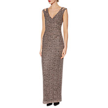 Buy Gina Bacconi Lucia Print Maxi Dress, Taupe Online at johnlewis.com