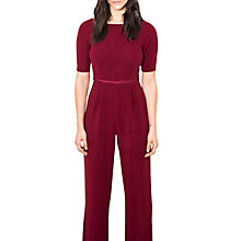 Buy Wild Pony Short Sleeve Jumpsuit, Bordeaux Online at johnlewis.com