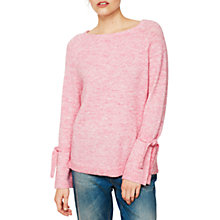 Buy Mint Velvet Tie Cuff Knit Jumper Online at johnlewis.com