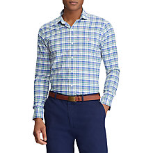 Buy Polo Golf by Ralph Lauren Performance Twill Check Shirt Online at johnlewis.com