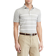 Buy Polo Golf by Ralph Lauren Custom Fit Tech Pique Polo Shirt, Taylor Heather/Pure White Online at johnlewis.com