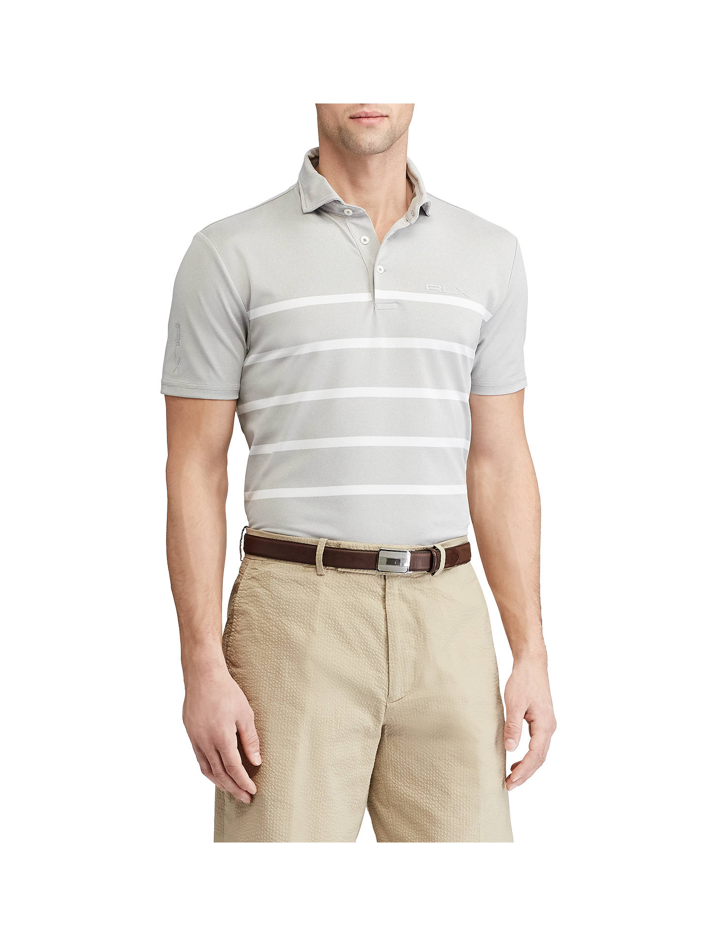 9e591be2a Buy Polo Golf by Ralph Lauren Custom Fit Tech Pique Polo Shirt, Taylor  Heather/ ...