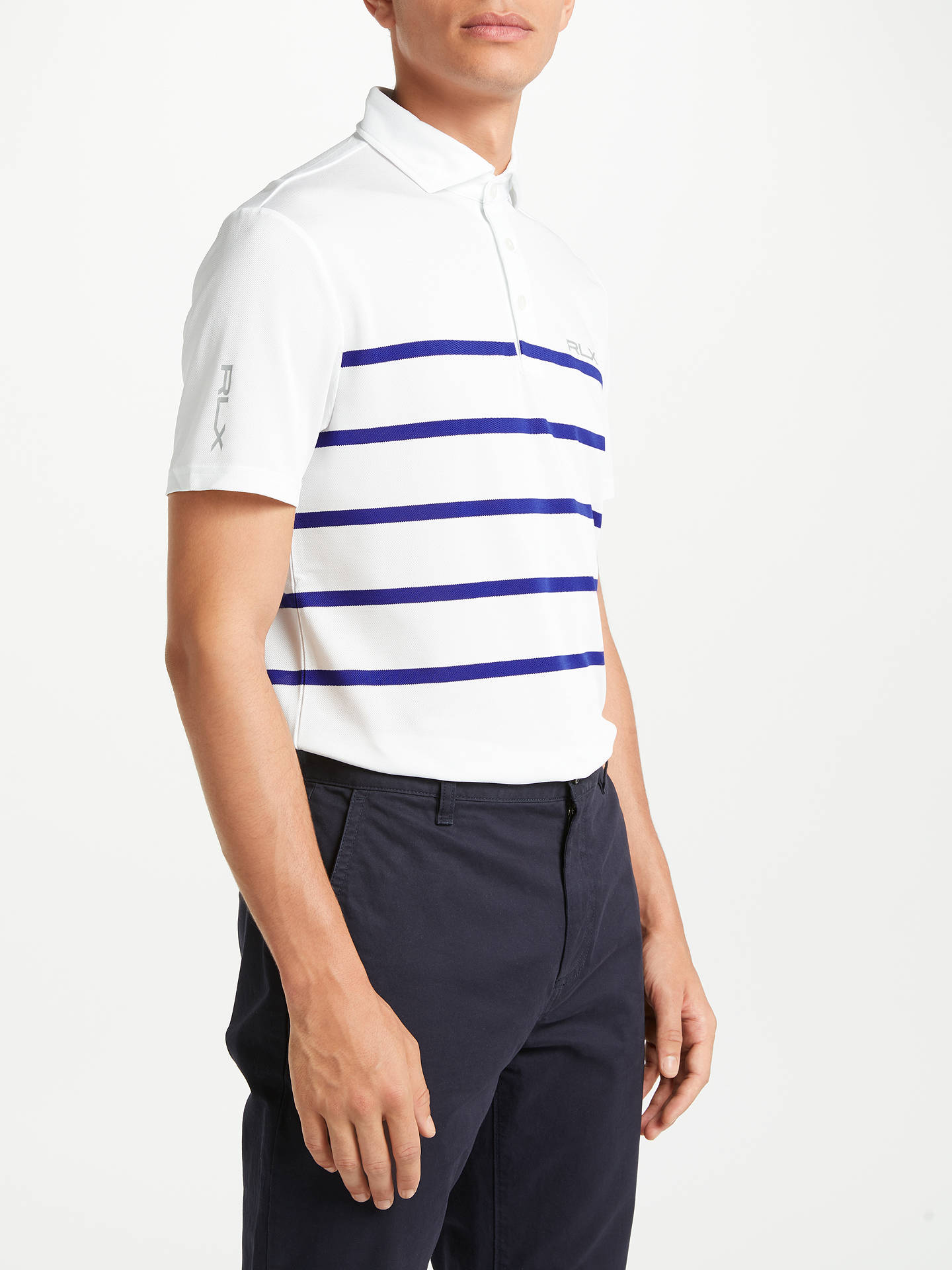 47b99516d Buy Polo Golf By Ralph Lauren Pro Fit Polo Shirt, Pure White/City Royal ...