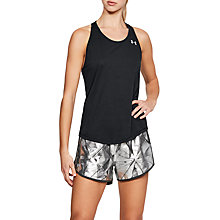 Buy Under Armour Threadborne Running Tank Top, Black/Reflective Silver Online at johnlewis.com
