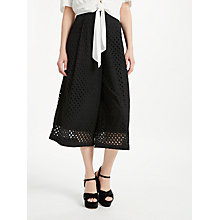 Buy Somerset by Alice Temperley Broderie Cotton Culottes, Black Online at johnlewis.com