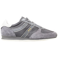 Buy HUGO BOSS Orlando Trainers, Grey Online at johnlewis.com