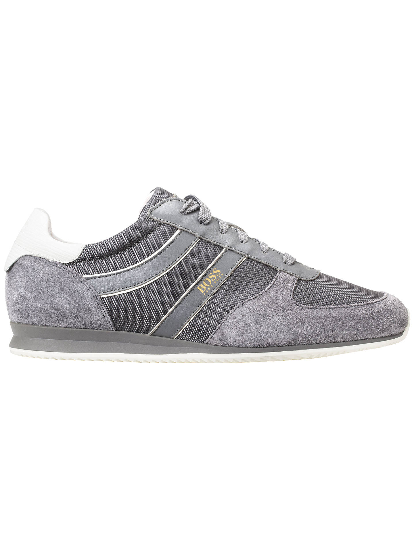 929af667e0 Buy HUGO BOSS Orlando Trainers, Grey, 7 Online at johnlewis.com