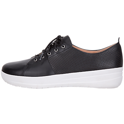 FitFlop F-Sporty Scoop Cut Trainers, Black Leather